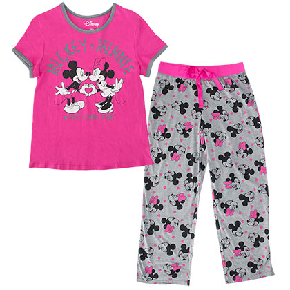 Minnie Mouse Women's Shirt And Pants Pajamas Set