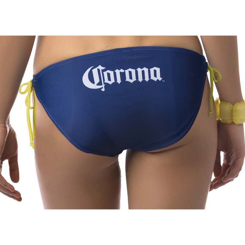 CORONA EXTRA Label Two Piece Women's Bikini Navy Swimsuit