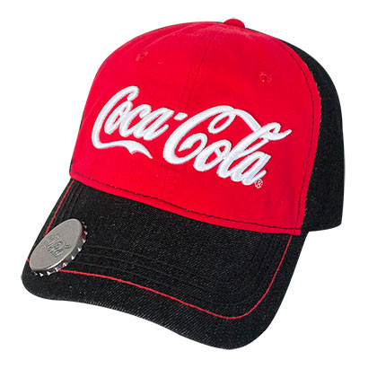COCA-COLA Adjustable Red and Black Bottle Opener Hat