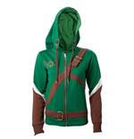 NINTENDO Legend of Zelda Female Link Outfit Full Length Zip Hoodie, Medium, Multi-colour