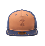 NINTENDO Legend of Zelda Breath of the Wild Z Logo Snapback Baseball Cap, Blue/Brown