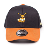 POKEMON Embroidered Eevee Curved Bill Baseball Cap, Black/Orange