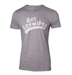 RICK AND MORTY Men's Get Schwifty T-Shirt, Extra Large, Grey