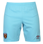 2016-2017 West Ham Away Football Shorts (Blue)