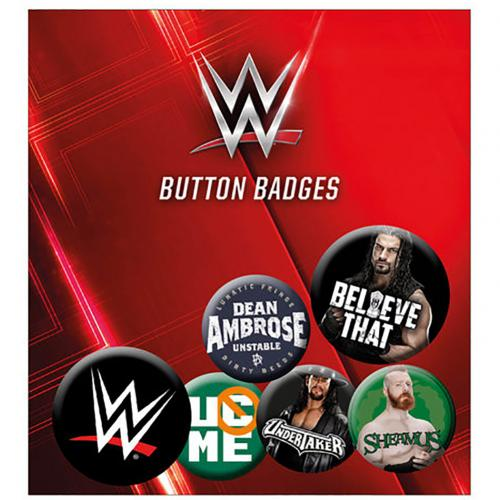 WWE Button Badge Set RD