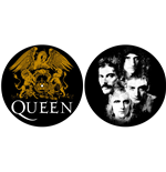 Queen Record Player Mat - Crest & Faces