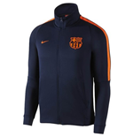 2017-2018 Barcelona Nike Authentic Franchise Jacket (Obsidian) - Kids