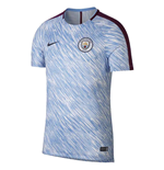 2017-2018 Man City Nike Pre-Match Training Shirt (Light Blue)