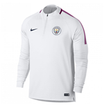 2017-2018 Man City Nike Training Drill Top (White)