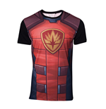 MARVEL COMICS Guardians of the Galaxy Men's Rocket Raccoon Sublimation T-Shirt, Medium, Multi-colour