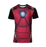 MARVEL COMICS Iron Man Men's Suit Sublimation T-Shirt, Medium, Multi-colour