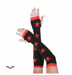 Black arm warmers with red stars