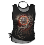 Dragon Eye - 2in1 Neck Tie Mesh Top Black