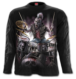 Zombie Backbeat - Longsleeve T-Shirt Black