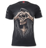 Dark Love - Twin Zipper Sleeve Fashion Tee