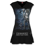 Raven Queen - Stud Waist Mini Dress Black