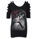 Captive Spirits - Cold Shoulder Goth Bottom Top