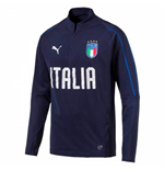 2018-2019 Italy Puma Quarter Zip Training Top (Peacot) - Kids