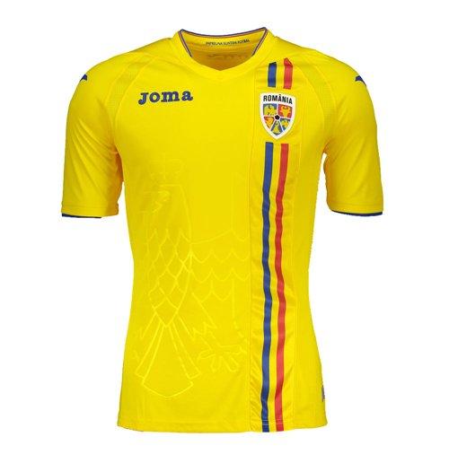 d74e17c155c0 Buy Official 2018-2019 Romania Home Joma Football Shirt