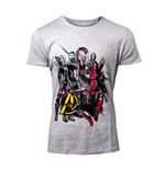 MARVEL COMICS Avengers: Infinity War Men's Characters T-Shirt, Small, Grey