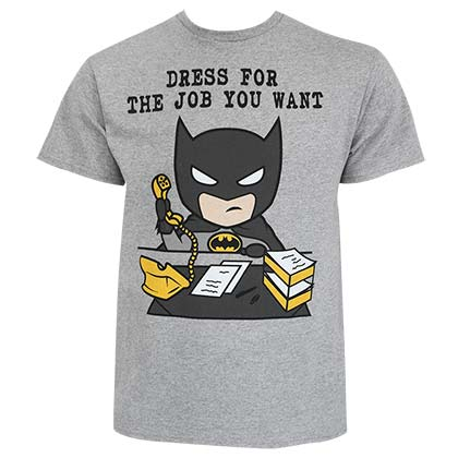 BATMAN Dress For The Job You Want Grey Tee Shirt