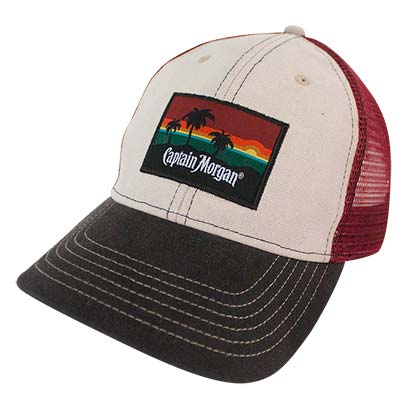 Captain Morgan Beach Side Mesh Snapback Hat