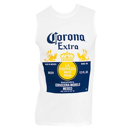 CORONA EXTRA Muscle Style Men's White Tank Top