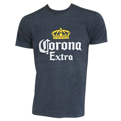 CORONA EXTRA Basic Heather Blue Tee Shirt