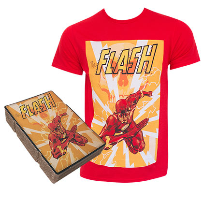 The FLASH Corrugated Boxed Red Tee Shirt