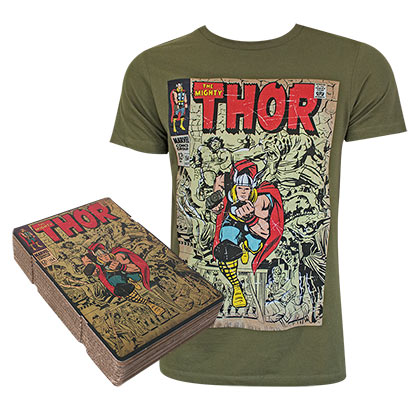 THOR Corrugated Boxed Green Tee Shirt
