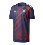 2017-2018 Bayern Munich Adidas Pre-Match Training Shirt (Red-Navy)