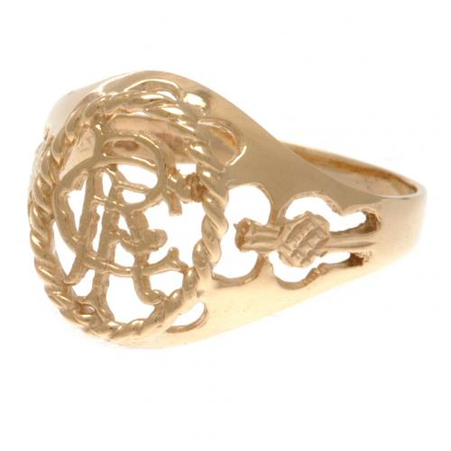Rangers F.C. 9ct Gold Crest Ring Medium