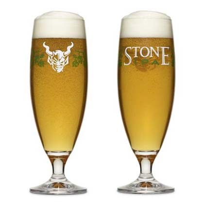 STONE BREWING CO. IPA Tall Specialty Glass