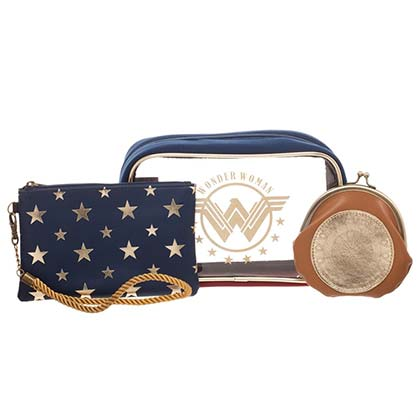 WONDER WOMAN Cosmetics Bag Set