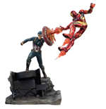 Captain America Civil War Premium Motion Statue Captain America vs Iron Man 43 cm