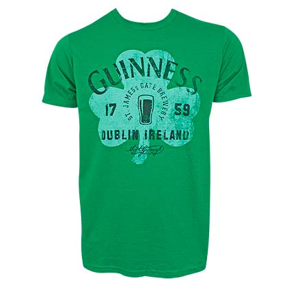 GUINNESS Clover Green Tee Shirt