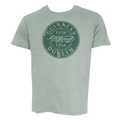 GUINNESS Bottle Cap Green Tee Shirt