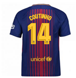 2017-2018 Barcelona Home Shirt (Coutinho 14) - Kids