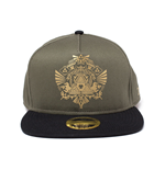 NINTENDO Legend of Zelda Golden Tri-force Logo Print Snapback Baseball Cap, Green/Black