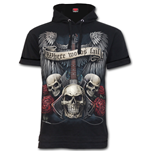 Unspoken - Fine Cotton T-shirt Hoody Black