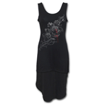 Fatal Attraction - Gothic High-Low Hem Dress Black