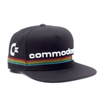 COMMODORE 64 Embroidered Full Rainbow Logo Snapback Baseball Cap, Black