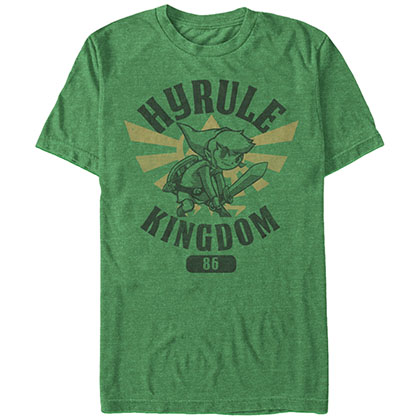 NINTENDO Legend of Zelda Hero Academy Young Link and the hero academy of the Hyrule Kingdom in  Green T-Shirt