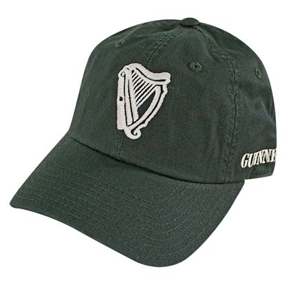 48ac69d844118 GUINNESS Harp Logo 1759 Dark Green Adjustable Hat