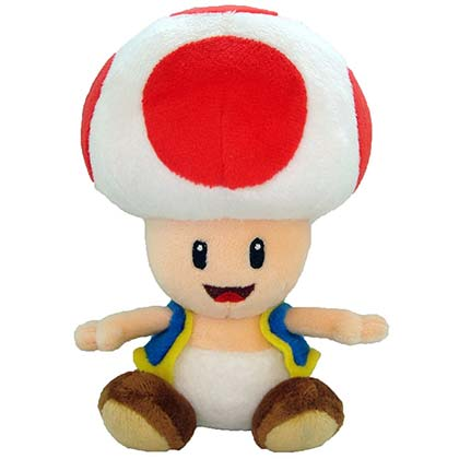Nintendo Super MARIO Bros. Toad 7in Plush Doll Toy