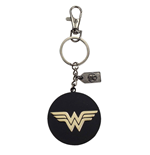Justice League Metal Keychain Wonder Woman Golden Logo
