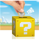 Super Mario Money Bank with Sound Question Block 10 cm