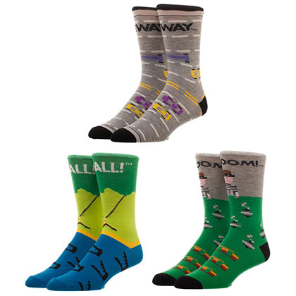 ATARI Activision Games Pitfall 3-Pack Mens Crew Socks