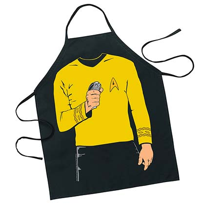 STAR TREK Captain Kirk Kitchen Apron