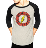Dc Originals - Flash Central City - Unisex Baseball Shirt White